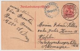 "Belgien ,1917, "" Zivilarbeiterpostkarte "", #a518 - [OC26/37] Staging Zone"