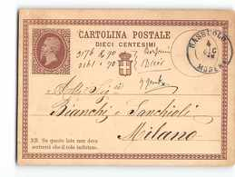 16192 01 SASSUOLO X MILANO - 1875 - Stamped Stationery