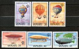 VANUATU Aérostats  1983 N°676-81 - Vanuatu (1980-...)
