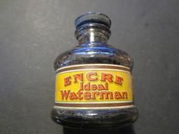 Ancienne Et Véritable Bouteille à Encre Ideal Waterman - Encriers