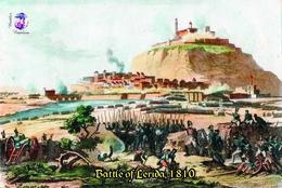 Carte Postale, Célébrités, Napoleon, Napoleonic Battles, 1810, Battle Of Lerida - Hommes Politiques & Militaires