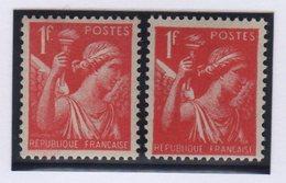 Type Iris - N°433 - Impression Lourde Maculant La Signature Et Les Details - Neuf Avec Charniere - 1939-44 Iris