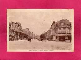 51 Marne, Reims, Place Drouet D'Erlon, Animée, Voitures, Hôtel, Policier, 1940, (A. Quentinet) - Reims