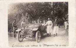 Kabylie - La Première Auto Venue à Mezarir - 1915 - Carte Photo - Scènes & Types
