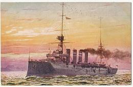 "H.M.S. "" Roxburgh "" Cruiser  Art Card Tuck Oilette  Our Navy Serie XV No 8714 - Guerra"