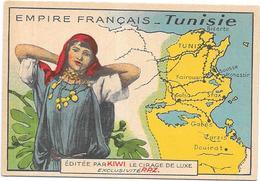CHROMO Cirage De Luxe  KIWI - Empire Français - TUNISIE - BARA - - Trade Cards
