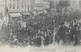 1906, L'Arrivée Du Roi Du Cambodge Sisowath à Paris - Le Cortège Se Rendant à L'Hôtel De Bréon - Carte Non Circulée - Events