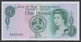 Isle Of Man 1 Pound (ND 1983) Plastic UNC - [ 4] Isle Of Man / Channel Island