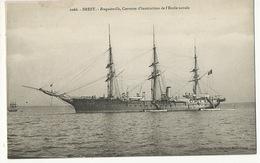 """Marine Française Voilier Ecole Navale Brest  Corvette """" Bougainville """"  Coll. Laurent Port Louis 3 Mats - Sailing Vessels"""