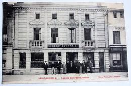Belle CPA 52 Saint Dizier Agence Du Crédit Lyonnais Animé Personnages Employés Banque 1909 - Saint Dizier