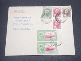 IRAN - Enveloppe De Téhéran Pour Paris En 1939 , Affranchissement Plaisant - L 16936 - Iran