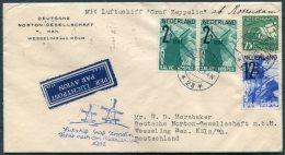 1932 Netherlands Graf Zeppelin Luftschiff Rotterdam Flight Cover - Period 1891-1948 (Wilhelmina)