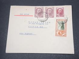 IRAN - Enveloppe De Téhéran Pour Paris En 1939 , Affranchissement Plaisant - L 16937 - Iran