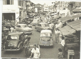 1950's Singapore Cars In Chinatown Street, Postal Stationery . Entier Postal. Addressed To Andorra. RARE. - Cars