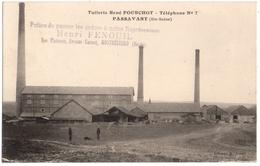 PASSAVANT ( 70 ) TUILERIE RENE POURCHOT. 1929. REPRESENTANT HENRI FENOUIL à MONTBELIARD ( 25 ) - Autres Communes