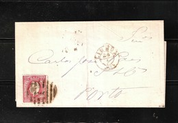 PORTUGAL 1874 Folded Letter From Lisbon To Oporto - Cartas