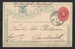 SERVICIO - POSTAL - MEXICANO → Postcard To Osnabrück - Mexique