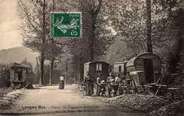 LONGWY-BAS  -  CAMP DE VANNIERS AMBULANT SUR LA ROUTE DE REHON  - Roulottes - Longwy