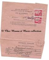 SAINT ST JEAN D ANGELY BOIDET 1940 - AVIS DE RECEPTION N° 514 - 1F - CHARENTE MARITIME - Marcophilie (Lettres)