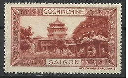 Indochine Cochinchine Vignette Erinnophilie Saigon Brun-rouge - Indochine (1889-1945)