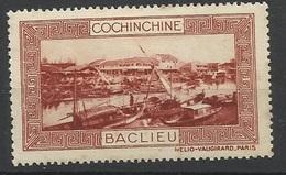 Indochine Cochinchine Vignette Erinnophilie Baclieu Brun-rouge - Indochine (1889-1945)