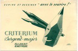 Buvard Critérium Et Sergent-Major. - Papeterie