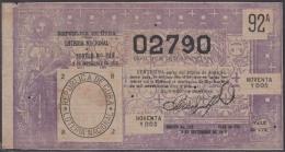 LOT-318  CUBA REPUBLIC OLD LOTTERY SORTEO DE LOTERIA Nº 249 09/09/1916 - Lottery Tickets
