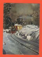 PL/1  ENTRE ROANNE VICHY MONTAGNE BOURBONNAIS CHEMIN DE FER DE LA LOGE DES GARDES / Neige écrite Timbre Poste 1976 Train - Chemin De Fer