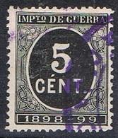 Sello 5 Cts Impuesto De Guerra 1898, VARIEDAD Impresion, Num 236 * - Impuestos De Guerra