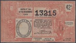 LOT-368  CUBA REPUBLIC OLD LOTTERY SORTEO DE LOTERIA Nº 330 10/12/1918 - Lottery Tickets
