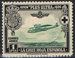 Sello 1 Pta Cruz Roja Española Aereo 1926, Num 347 ** - 1889-1931 Royaume: Alphonse XIII