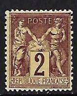 "FR YT 85 "" Sage 2c. Brun-rouge "" 1877 Neuf** - 1876-1898 Sage (Type II)"