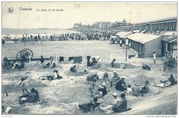 OSTENDE ..-- Jeux De Plage Et Les Tentes . - Oostende