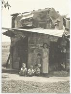 Rare Old Time Singapore Postcard (Ramshackle Hut ,Sennett Estate, Singapore,year 1957) Addressed To Andorra - Singapore