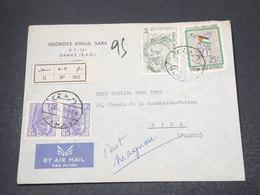 SYRIE - Enveloppe En Recommandé De Damas Pour Nice En 1965 , Affranchissement Plaisant - L 16969 - Syrie