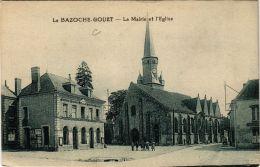 CPA La Bazoche Gouet- La Mairie Et L'Eglise. (669997) - Autres Communes