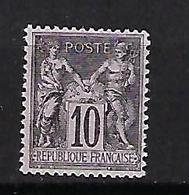 """FR YT 88 """" Sage 4c. Lilas-brun """" 1877 Neuf** - 1876-1898 Sage (Type II)"""