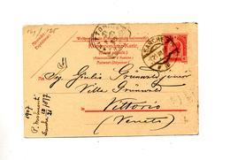 Carte Postale 10 Empereur Cachet Sarche + Vittorio - Entiers Postaux