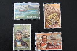 TIMBRES SERIE ÏLE MAURICE 1972 NEUFS ** PIRATES ET CORSAIRES - Mauritius (1968-...)
