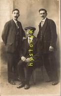 Hommes Moustache Casquette Costume   14x9cm Photo Ancienne Snapshot - Sin Clasificación