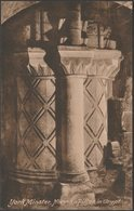 Norman Pillar In Crypt, York Minster, Yorkshire, C.1920 - Frith's Postcard - York