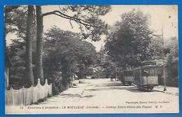 33 - LE MOULLEAU, PRÈS ARCACHON - AVENUE NOTRE-DAME-DES-PASSES - TRAMWAY - CACHET DAGUIN  LOCAL 1929 - Arcachon