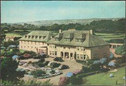 Cliff Head Hotel, Carlyon Bay, Cornwall, C.1950s - H E Warne Postcard - England