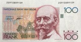 Belgium 100 Francs, P-142a 2001 UNC (sign. 5 + 15) - 100 Francs