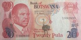 Botswana 20 Pula, P-10a (1987) - Botswana