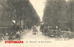 CPA 13 : N°23 - MARSEILLE -  RUE DE ROME - édition GUENDE - The Canebière, City Centre