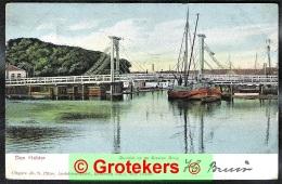 DEN HELDER De Nieuwe Brug Met Binnenvaartschip / Péniche 1903 - Den Helder