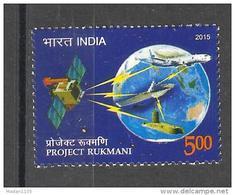 INDIA, 2015, Project Rukmani, Satellite, Space,  Globe, Aeroplane, Flight, Ship, MNH, (**) - Space
