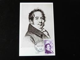 MONACO   CARTE MAXIMUM  F. J. BOSIO   STATUAIRE - Maximum Cards