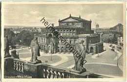 Dresden - Opernhaus - Foto-Ansichtskarte - Verlag J. Bettenhausen & Sohn Dresden - Dresden